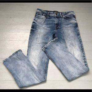 Men 31 Jack & Jones slim straight acid wash jeans
